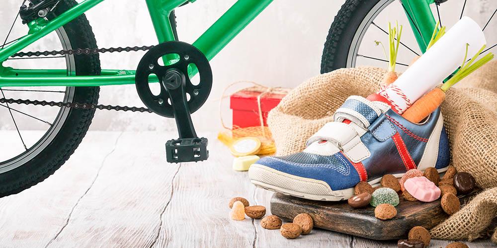 Sinterklaas campagne fiets en schoen
