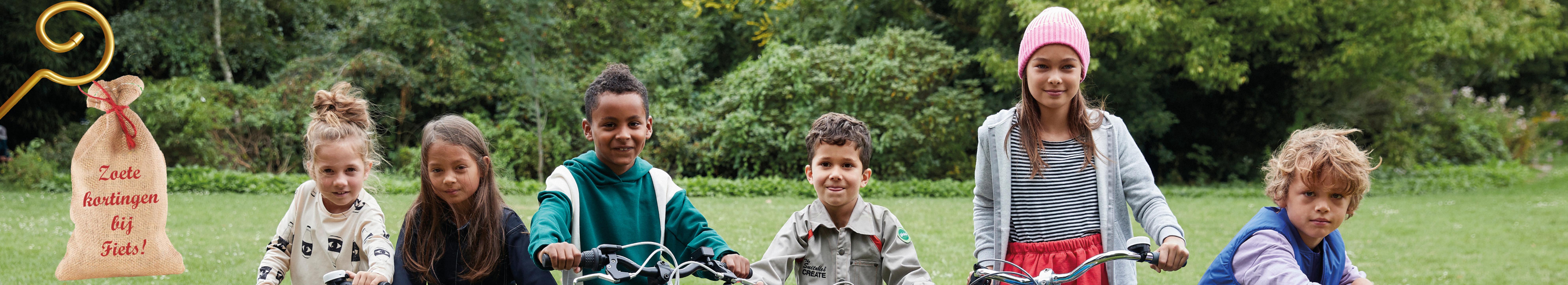 Kinderen zijn klaar voor kortingen op kinderfietsen