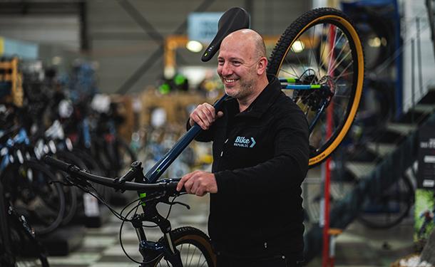 Bike Republic Hasselt store manager Jean Disbeschl