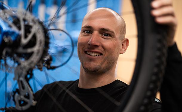Bike Republic Kuurne store manager Robin Verhelle