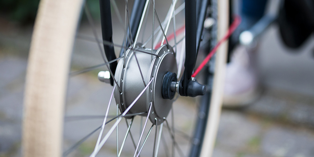Voorwielmotor van een elektrische fiets