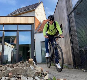 We fietsten geld bijeen voor voor Rondpunt VZW