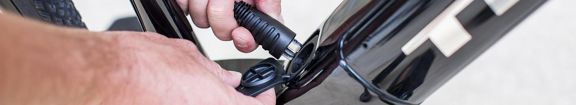 Opladen of heroplappen van de e-bike