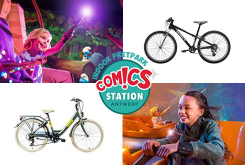 Kinderfietsen actie met ticket voor Comics Station